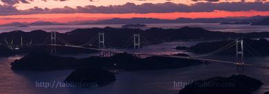 2009,11,03来島海峡大橋の夕焼W003a.jpg