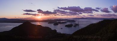2009,11,03来島海峡大橋の夕陽W019b.jpg