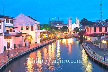 2011,03,13マラッカ川の夜景b.jpg
