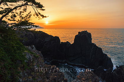 2014,05,24碁石海岸の日の出a.jpg
