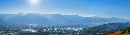 2019,05,07長峰山より安曇野平野越しに北アルプスを望むB.jpg