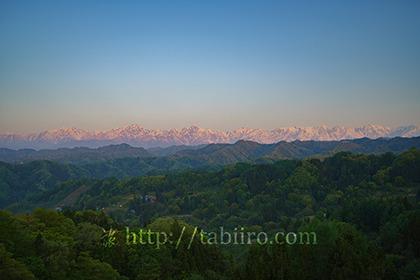 2019,05,13小川村より北アルプスの朝焼けを望む006B.jpg